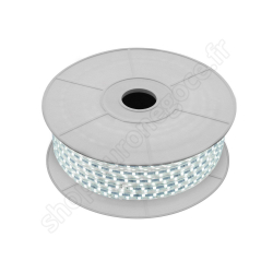 EIRUB6000-10 - Ruban LED de chantier 9w/m 240leds/m 1100lm 6000k ip 65 10m avec alimentation 230v