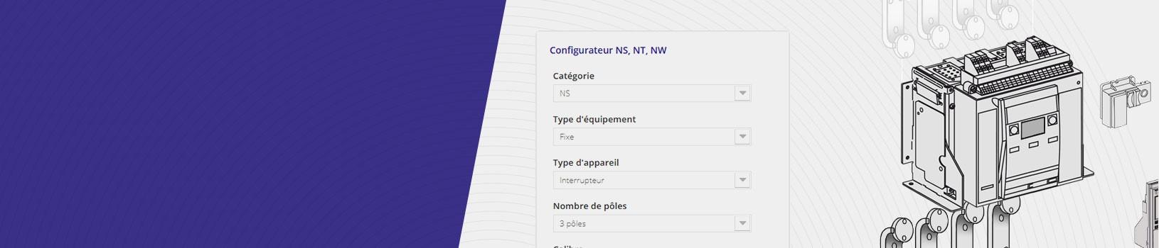 Présentation de la page de configuration NS, NT, NW